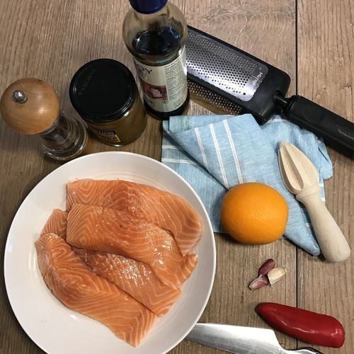 Sticky Ginger Salmon