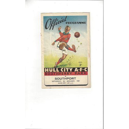 Hull City v Southport 1946/47