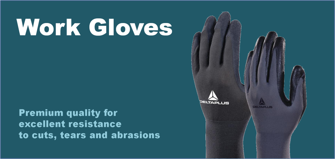 Gloves nitrile latex work glove black white blue disposable cut