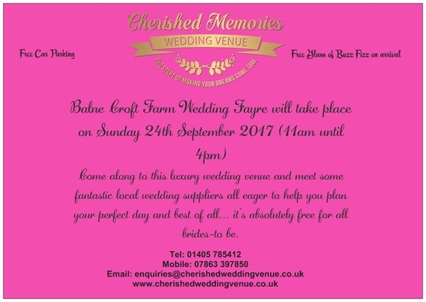 Wedding Fayre 24th September 2017