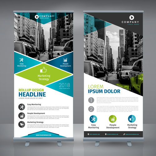 2 banner stands