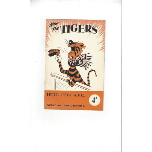 1956/57 Hull City v Southport Football Programme