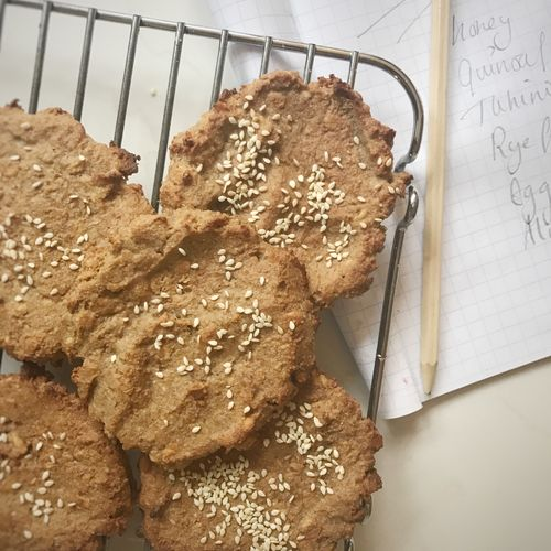 Honey and Sesame Cookies