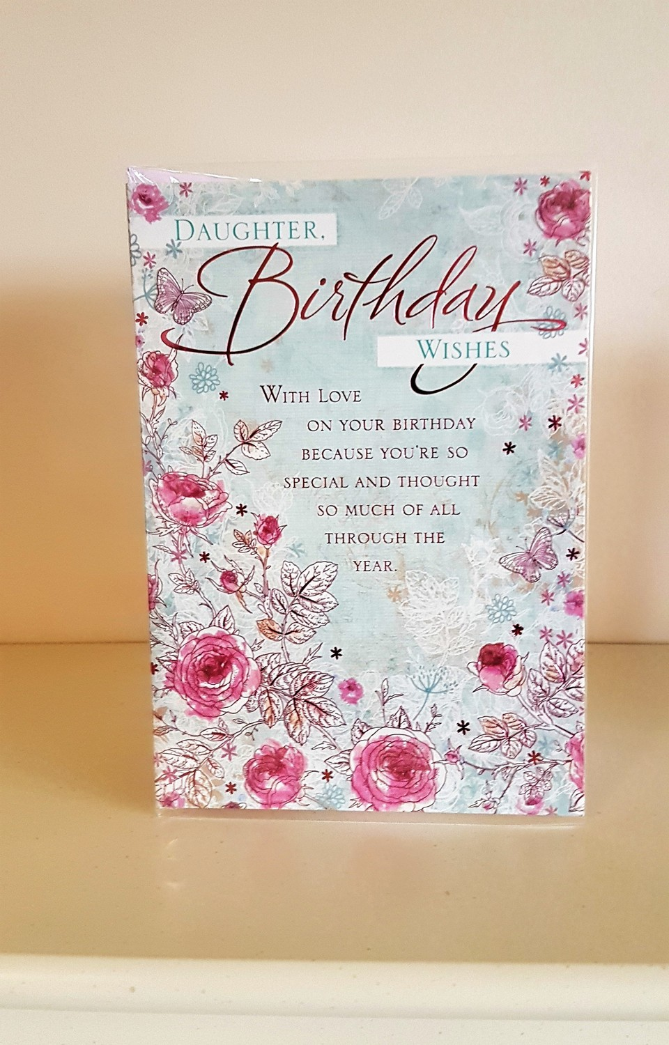 Daughter Pink Flowers Birthday Card Remember That Card Greeting