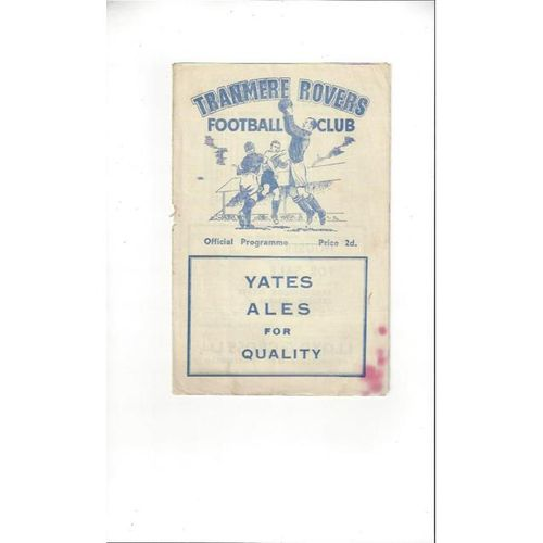 1955/56 Tranmere Rovers v Southport Football Programme
