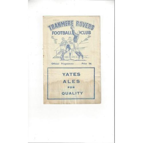 1954/55 Tranmere Rovers v Southport Football Programme