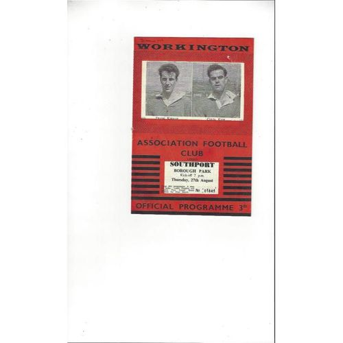 1959/60 Workington v Southport Football Programme