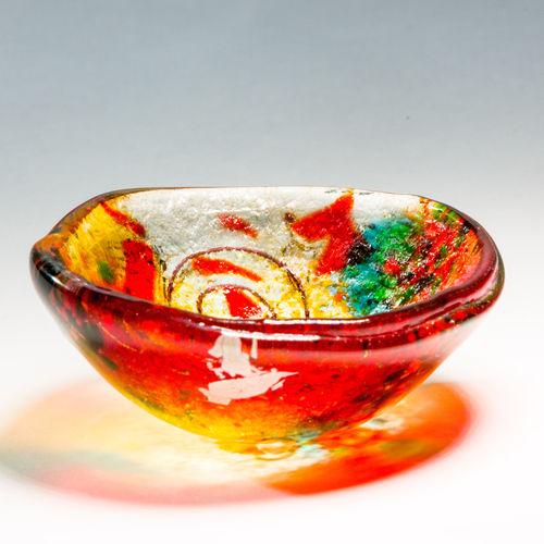 Tricolore Tealight Dish (Round)