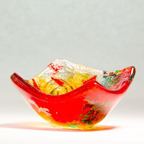 Tricolore Tealight Dish (Square)