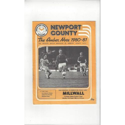 Newport County Home Football Programmes