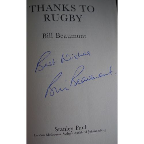 Signed Bill Beaumont Autobiography