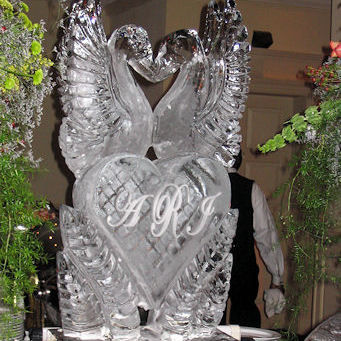The Love Birds Ice Sculpture