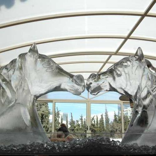 The Horse Ice Sculpture