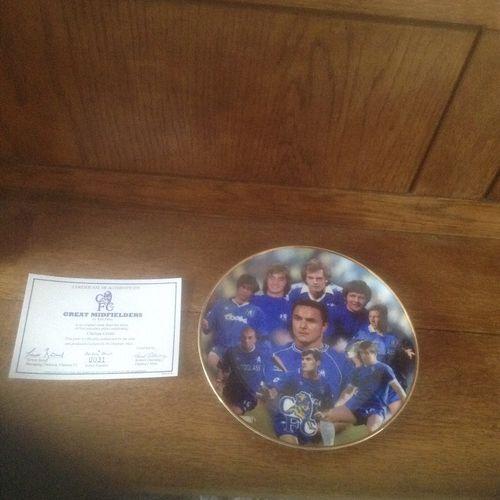 Chelsea Porcelain Plate by Danbury Mint No. 0031 Great Midfielders