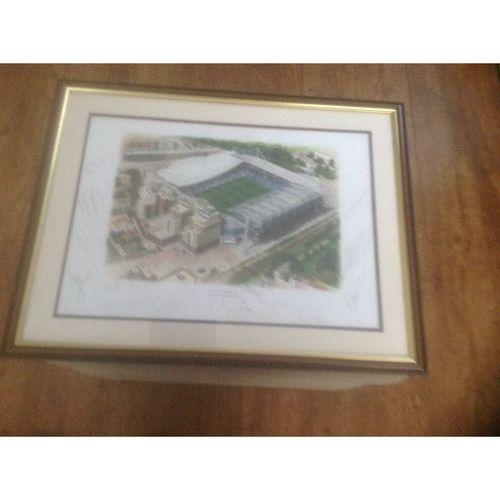 Chelsea - Stamford Bridge Print Framed & Autographed