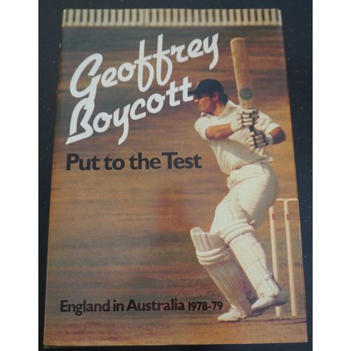 Signed Geoff Boycott - Put to the Test