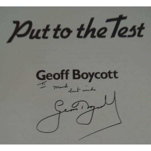 Signed Geoff Boycott - Put to the Test