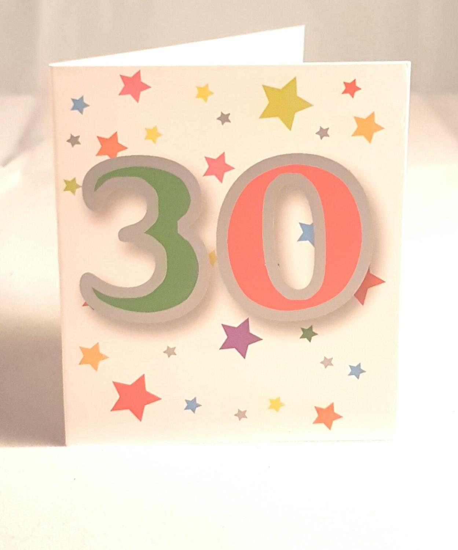 30th Birthday Gift Tag