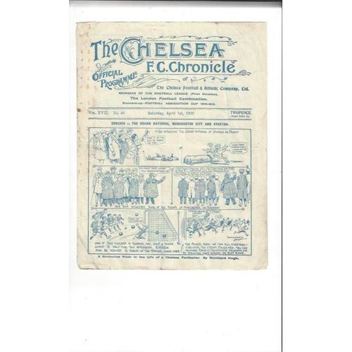1921/22 Chelsea v Everton Football Programme
