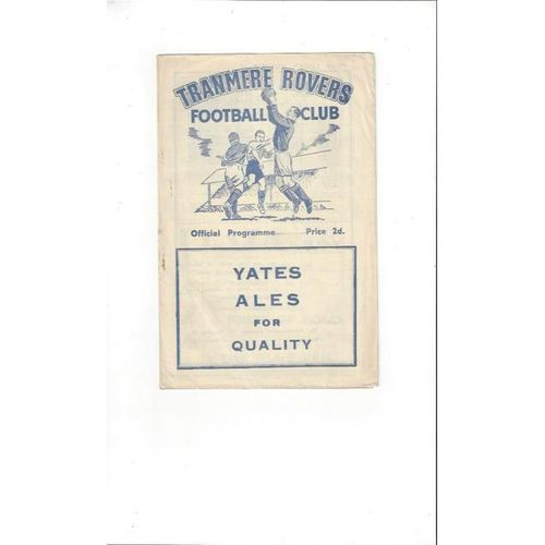 Tranmere Rovers v Southport Liverpool Senior Cup Final Football Programme 1954/55