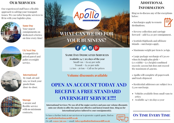 Open an account today and receive a FREE standard overnight service