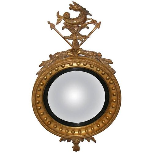 Regency Wood Carved and Gilt Convex Mirror, circa 1820 - £4,500