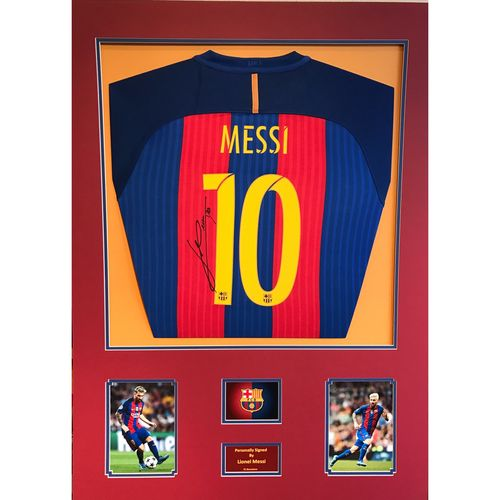 Signed Lionel Messi Barcelona Shirt