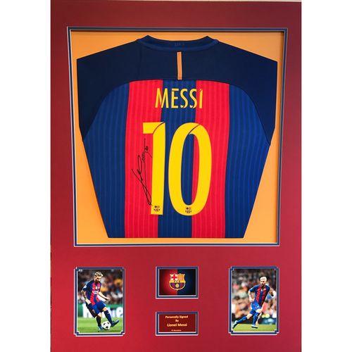 Signed Lionel Messi Barcelona Shirt