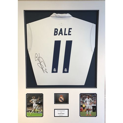 Signed Gareth Bale Official Real Madrid Shirt