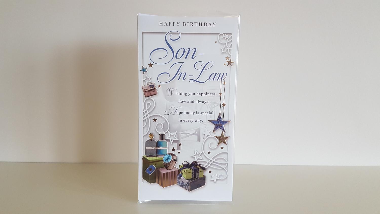 Son In Law Presents Stars Birthday Card