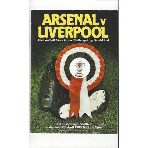 Arsenal v Liverpool FA Cup Semi Final Football Programme 1980 @ Hillsborough