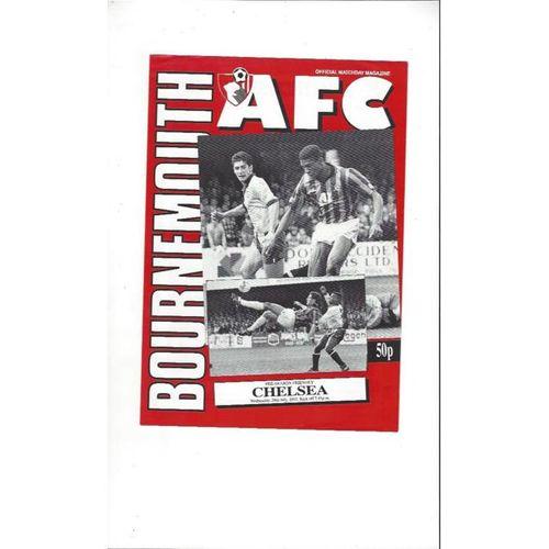 Bournemouth v Chelsea Friendly Football Programme 1992/93