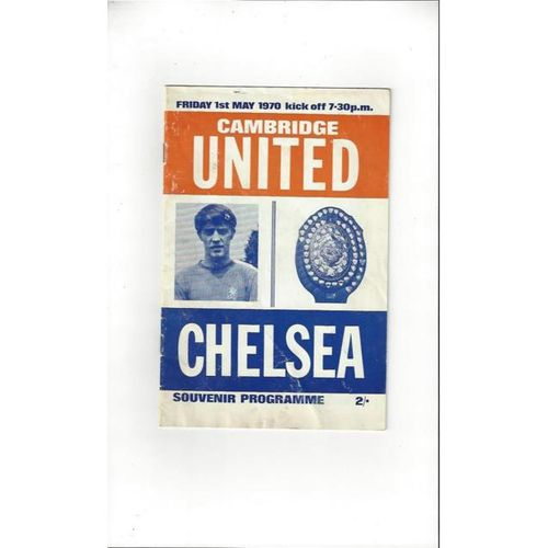 1969/70 Cambridge United v Chelsea Friendly Football Programme