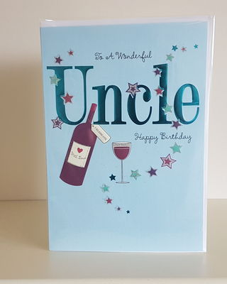 Uncle Bottle Glass Birthday Card