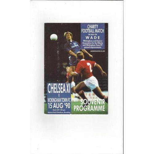Chelsea X1 v Wokingham Town Friendly Football Programme 1990/91