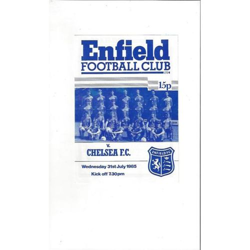 Enfield v Chelsea Friendly Football Programme 1985/86