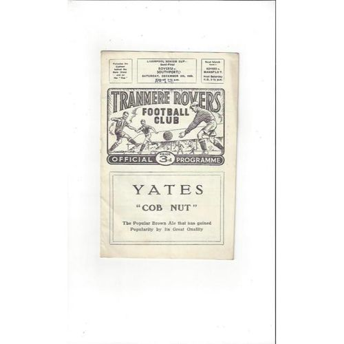 1959/60 Tranmere Rovers v Southport Liverpool Senior Cup Semi Final Football Programme