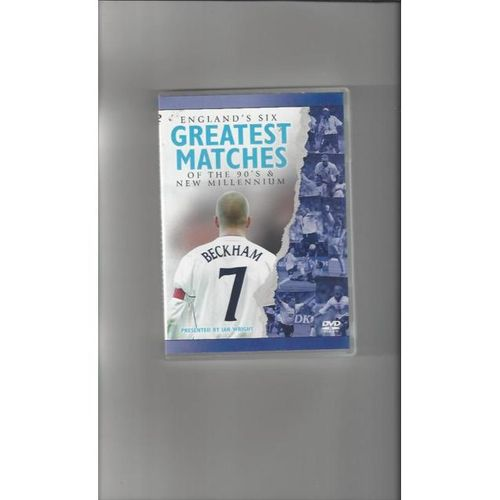 England 6 Greatest Matches of the 90's & New Millennium DVD