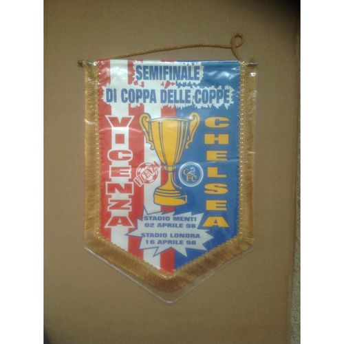 Chelsea Large Vintage Football Pennant. European Cup Winners Cup Semi Final 1998
