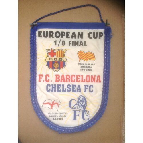 Chelsea Large Vintage Football Pennant. European Cup 2005