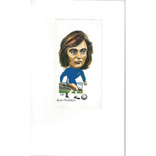 Alan Hudson - Chelsea Colour Post Card by George Keeling Caricatures