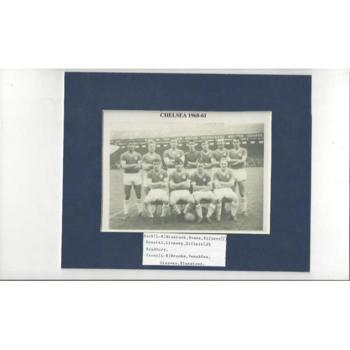 Chelsea Team - 1960/61 Mounted Black & White Picture