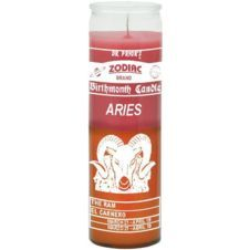 Aries Birth Sign Candle