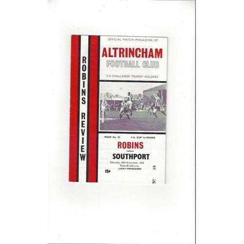 1978/79 Altrincham v Southport FA Cup Football Programme