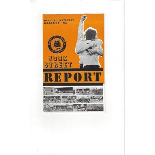 1978/79 Boston United v Southport Football Programme