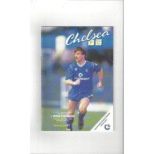 1987/88 Chelsea v Middlesbrough Play Off Final Football Programme