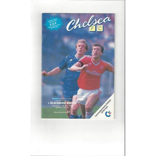 1987/88 Chelsea v Blackburn Rovers Play Off Semi Final Football Programme
