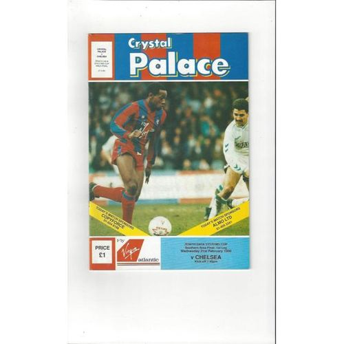 Crystal Palace v Chelsea Zenith Data Cup Area Final 1989/90