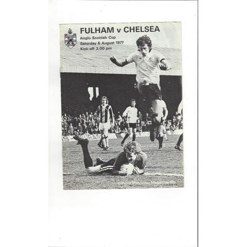 Fulham v Chelsea Anglo Scottish Cup 1976/77