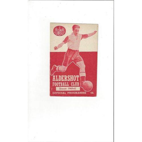 1960/61 Aldershot v Southport Football Programme